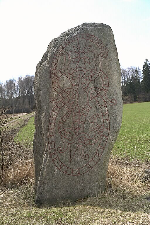 Runes written on runsten, finkornig gnejsgranit. Date: V
